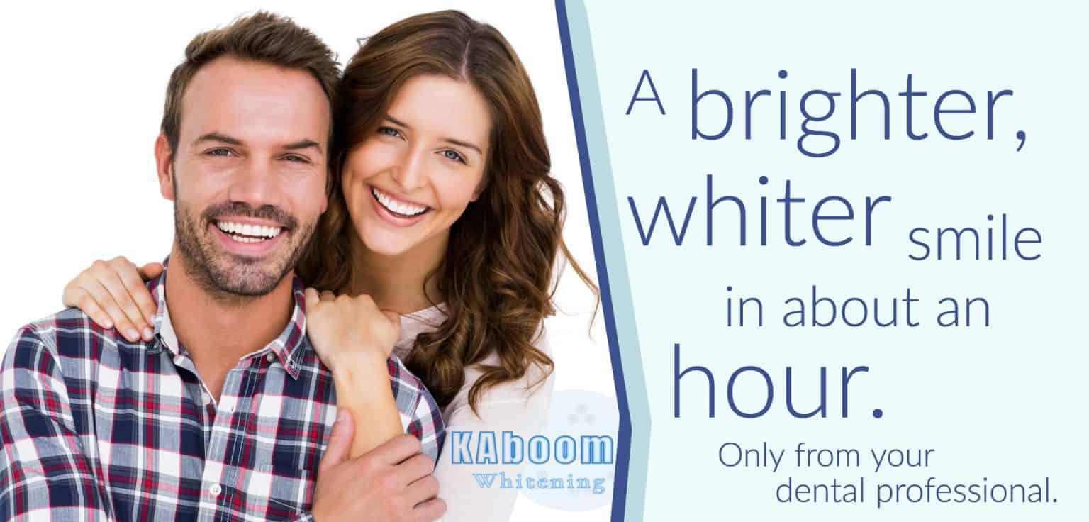 kaboom teeth whitening flyer